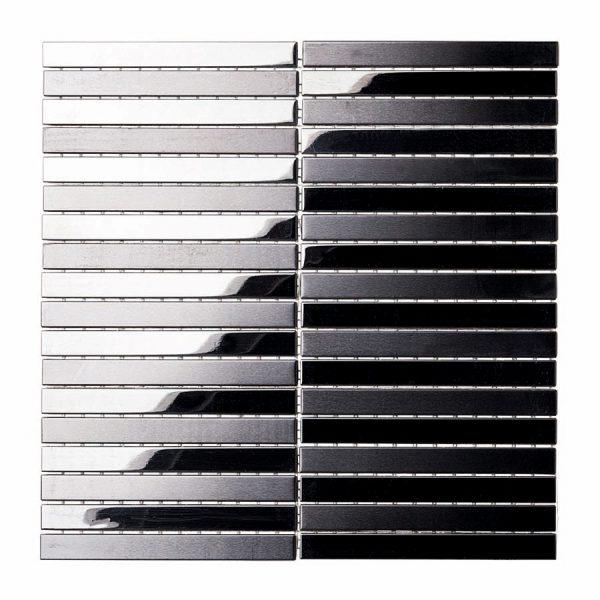 Aluminio Platin Nero 30x30